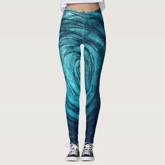 Sapphire Vortex Leggings
