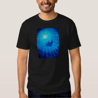 Sapphire with diamond cross section t-shirts