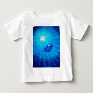 Sapphire with diamond cross section tee shirts