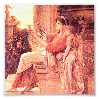 Sappho by gustav klimt,Representation of the Greek Art Photo