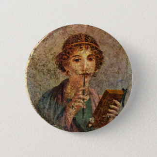 Sappho from Lesbos 2 Inch Round Button