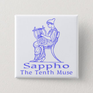 Sappho: The Tenth Muse 2 Inch Square Button