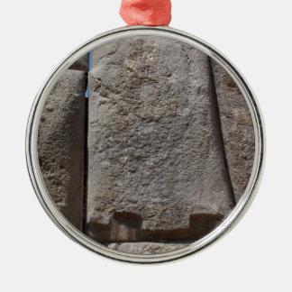 Saqsaywaman Lost Alien Technology Metal Ornament