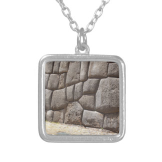 Saqsaywaman Snake Pictogram Silver Plated Necklace