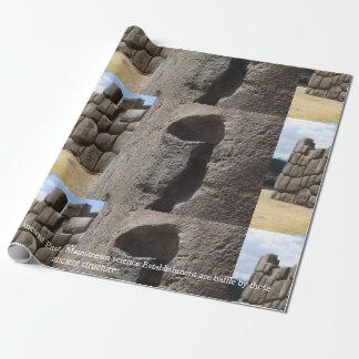 Saqsaywaman Snake Pictogram Wrapping Paper