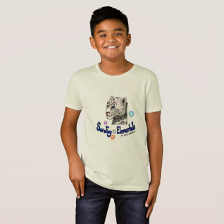 Sara Fay Snow Leopard  Kid's Organic Cotton Tee