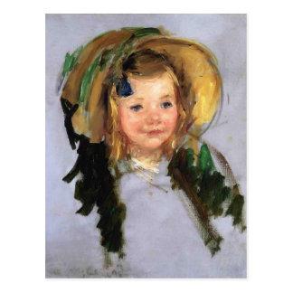 Sara in a Bonnet by Mary Cassatt Post Cards