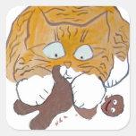 Sara, the Kitten, Gingerbread Crunch Stickers