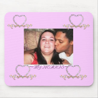 SARAH AND DUSTIN HEARTS MADE OF BEAUTIFUL FLOWERS MOUSE PAD