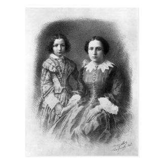 Sarah Bernhardt and her mother? Postcard