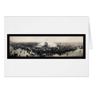 Sarah Bernhardt Tent Chicago Photo 1906 Card