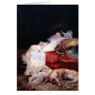 Sarah Bernhardt with Borzoi Card