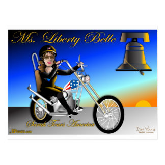 Sarah is Liberty Belle Postcard