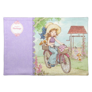 "Sarah Kay ""Bike Ride"" Heritage Cloth Placemat"
