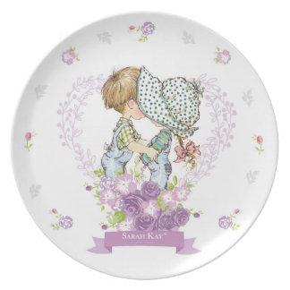 Sarah Kay Fleur Porcelain Plate #3 Lavender