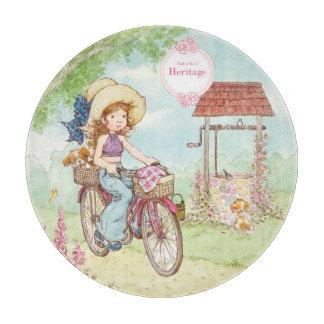 "Sarah Kay Heritage ""Bike Ride"" Glass Cutting Board"