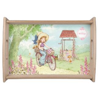 """Sarah Kay Heritage """"Bike Ride"""" Serving tray"""