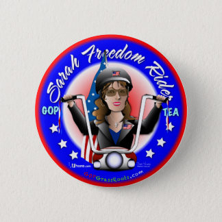 Sarah Liberty Rider 2 Inch Round Button