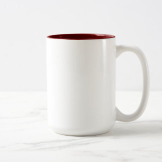 Sarah Maroon 15 oz Two-Tone Mug