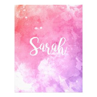 Sarah Name Letterhead