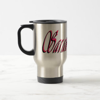 Sarah, Name, Logo, Travel Mug
