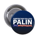 Sarah Palin American Values 2 Inch Round Button