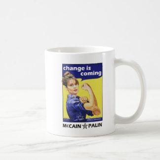 Sarah Palin - Change is Coming Basic White Mug