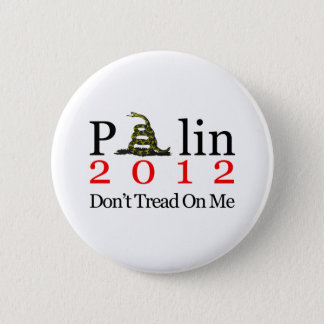 Sarah Palin Don't Tread On Me 2 Inch Round Button