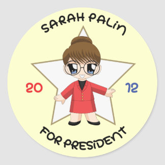 Sarah Palin For President Classic Round Sticker