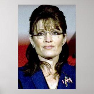 Sarah Palin in Blue Poster