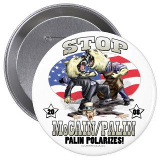 Sarah Palin Polarizes Gear 4 Inch Round Button