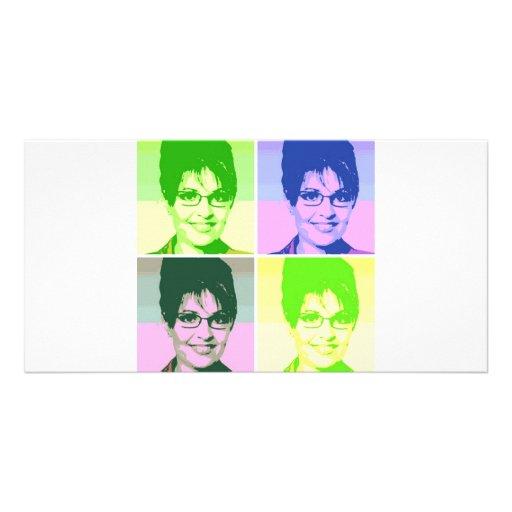 Sarah Palin Pop Art Photo Card Template