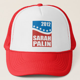 Sarah Palin Red White Blue Trucker Hat