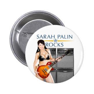 Sarah Palin Rocks Button