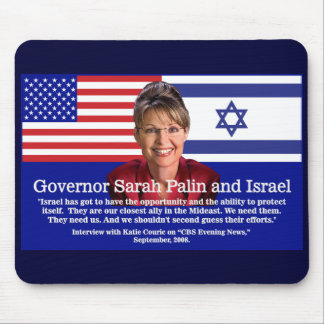 Sarah Palin Speaks About Israel Mouse Pad