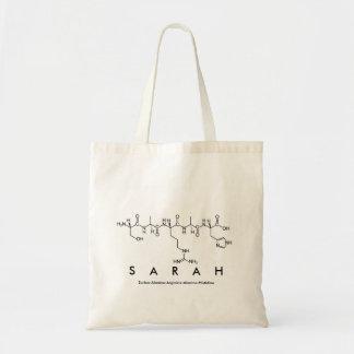 Sarah peptide name bag