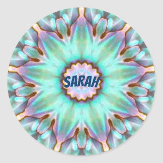 Sarah ~ Personalised Paua Shell Sticker Fractal ~