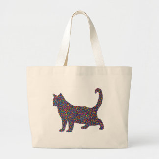 Sarah Stained Glass Cat Tote Bag