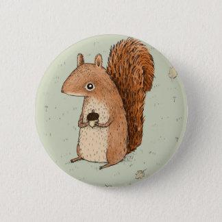 Sarah the Squirrel 2 Inch Round Button