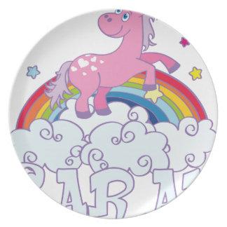 Sarah unicorn name plate