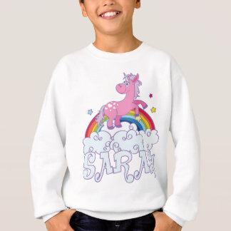Sarah unicorn name sweatshirt