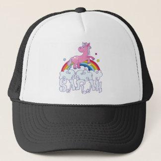 Sarah unicorn name trucker hat