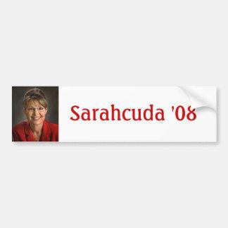 Sarahcuda '08 bumper sticker