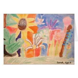 Sarah's Art Work , Sarah, Age 6 Card