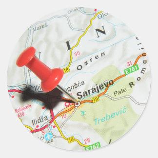 Sarajevo, Bosnia and Herzegovina Classic Round Sticker