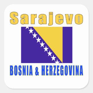 Sarajevo Bosnia & herzegovina capital designs Square Sticker
