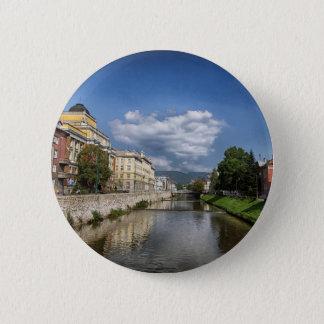 Sarajevo city, capital of Bosnia and Herzegovina 2 Inch Round Button