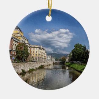 Sarajevo city, capital of Bosnia and Herzegovina Ceramic Ornament