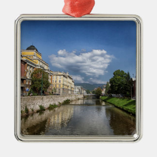Sarajevo city, capital of Bosnia and Herzegovina Metal Ornament