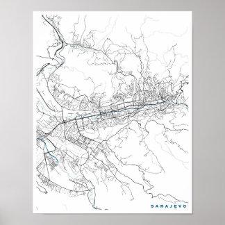 Sarajevo City Map Poster